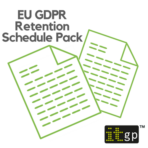 EU GDPR Retention Schedule Pack